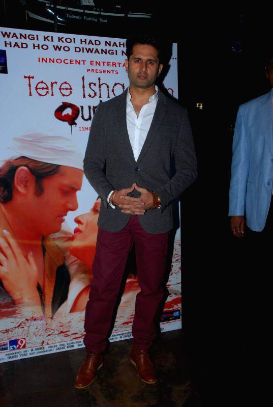 Actor Shobhit Attray during the music launch of film Tere Ishq Mein Kurban in Mumbai, on Jan. 12, 2015. - Shobhit Attray