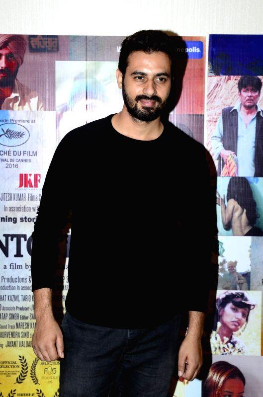 Mumbai:  Actor Shoib Nikash Shah during the trailer launch of film Mantostaan in Mumbai on April 15, 2017.