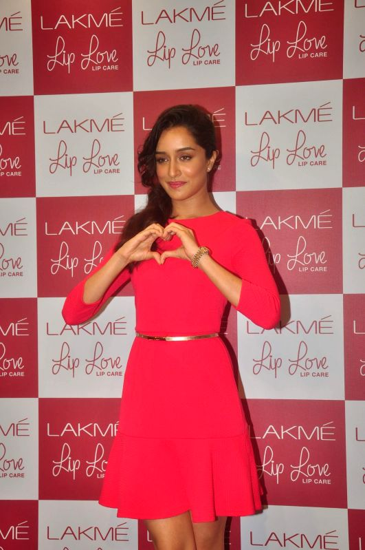 Actor Shraddha Kapoor during the promotion of Lakme Lip Love lip care in Mumbai on Thursday, Dec 11, 2014.