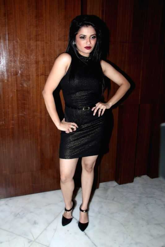 Actor Shrutika Gaonkar during the music launch of film Three Atrangi Jai-Veeru-Gabbar in Mumbai on March 20, 2015. - Shrutika Gaonkar