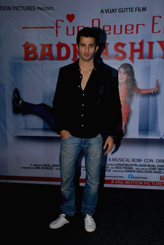 Actor Sidhant Gupta during the press conference of film Badmashiyan in Mumbai on 28th January 2015. - Sidhant Gupta