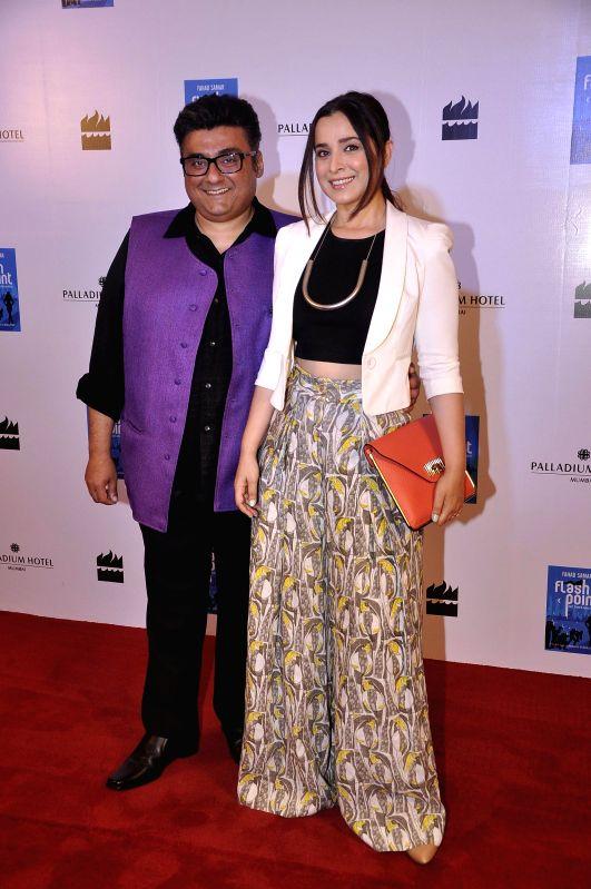 Actor Simone Singh during the launch of Fahad Samar`s book `Flash Point` at Palladium in Mumbai, on Feb. 8, 2015. - Simone Singh