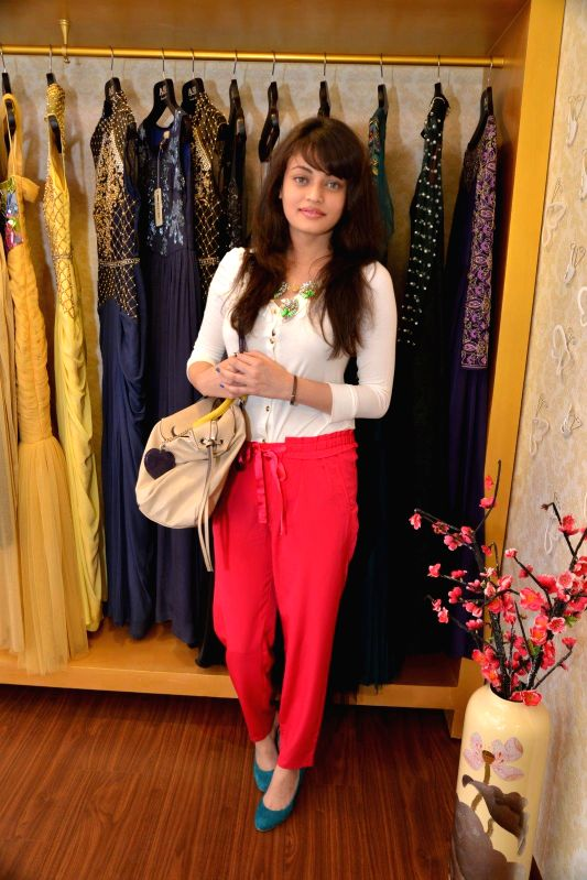 Actor Sneha Ullal during Asha Karla`s Summer 2015 Couture Collection hosted by Arpita Khan, on Feb 5, 2015. - Sneha Ullal