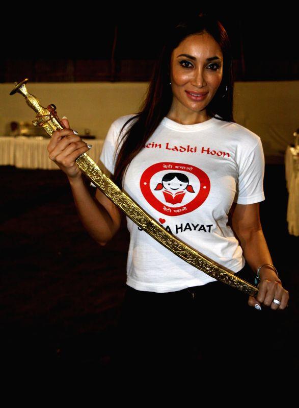 Actor Sofia Hayat during the Rajasthan Day celebration in Mumbai on March 30, 2015. - Sofia Hayat