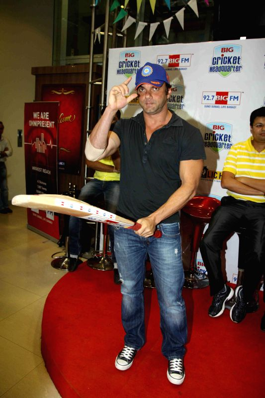 Actor Sohail Khan during the Big FM announces biggest cricket fan winner with a ticket to the ICC World Cup Finals to Australia in Mumbai on March 10, 2015. - Sohail Khan