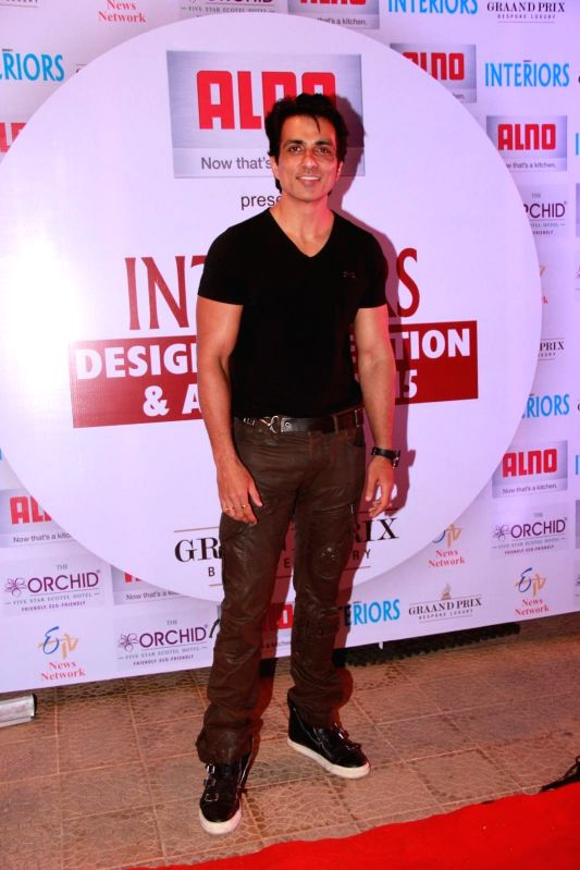 Actor Sonu Sood during the 13th Society Interiors Design Competition and Awards in Mumbai on Feb 21, 2015. - Sonu Sood