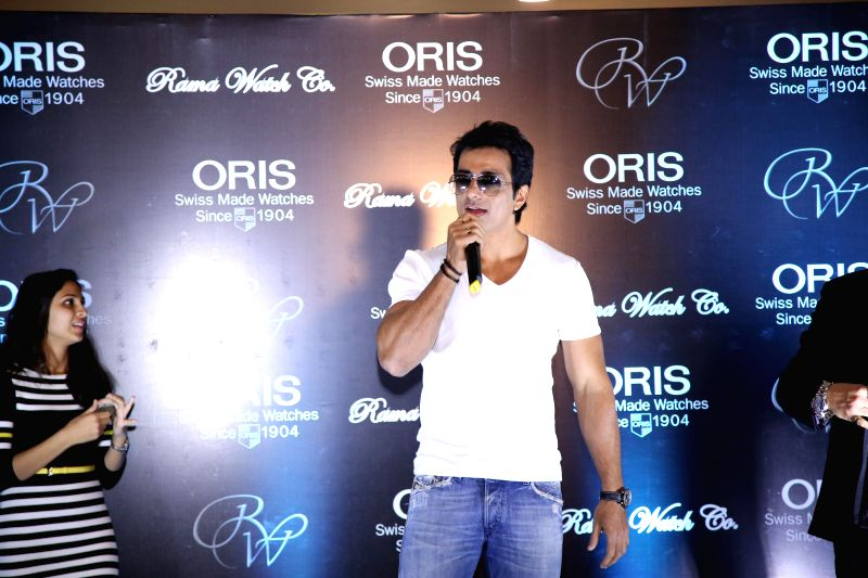 Actor Sonu Sood during the unveiling of ORIS Pro Pilot Altimeter in Rama Watch Boutique, in Mumbai on Dec. 12, 2014.