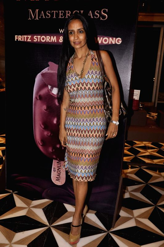 Actor Suchitra Pillai during the launch of a new Choco Cappuccino flavour of HUL`s Magnum Icecream in Mumbai on Feb 22, 2015. - Suchitra Pillai