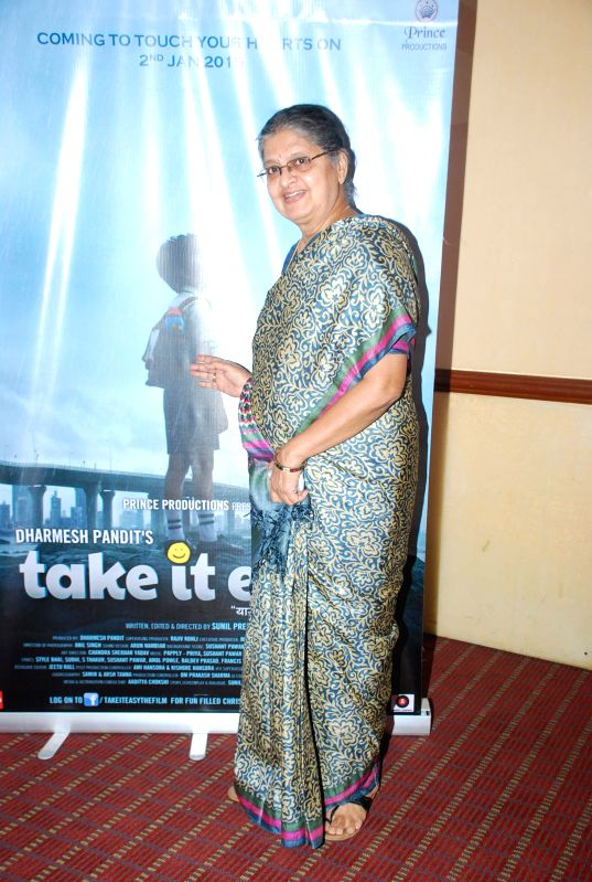 Actor Sulbha Arya during the media interaction of film Take it Easy in Mumbai, on Dec. 24, 2014. - Sulbha Arya