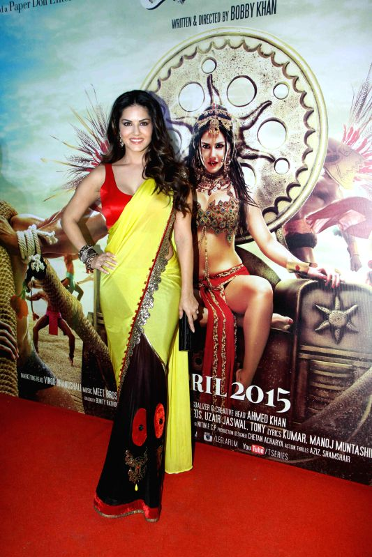 Actor Sunny Leone during the trailer launch of upcoming film Ek Paheli Leela in Mumbai on Feb. 6, 2015. - Sunny Leone