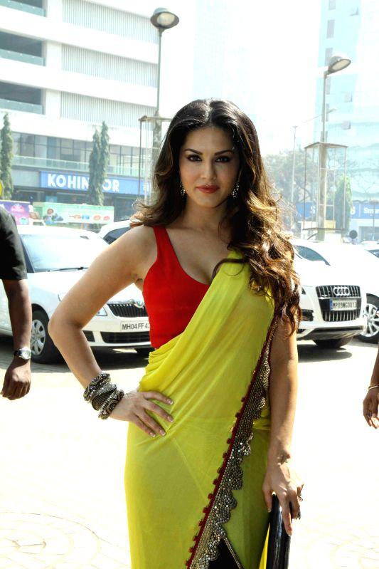 Actor Sunny Leone during the trailer launch of upcoming film Ek Paheli Leela in Mumbai on Feb. 6, 2015. - Sunny Leone