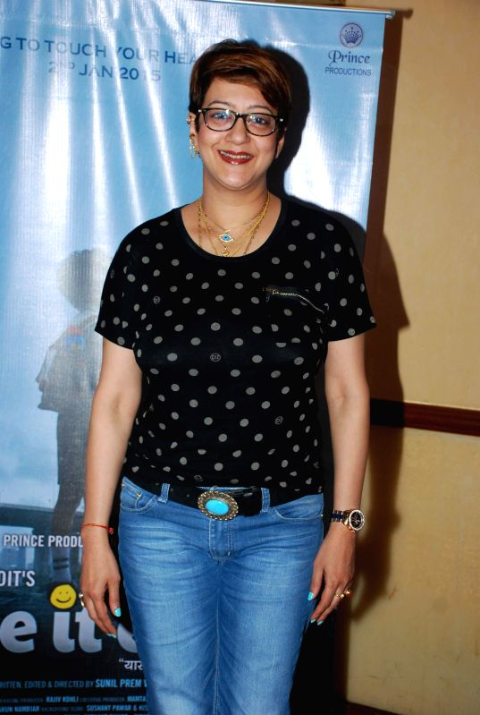 Actor Supriya Karnik during the media interaction of film Take it Easy in Mumbai, on Dec. 24, 2014. - Supriya Karnik