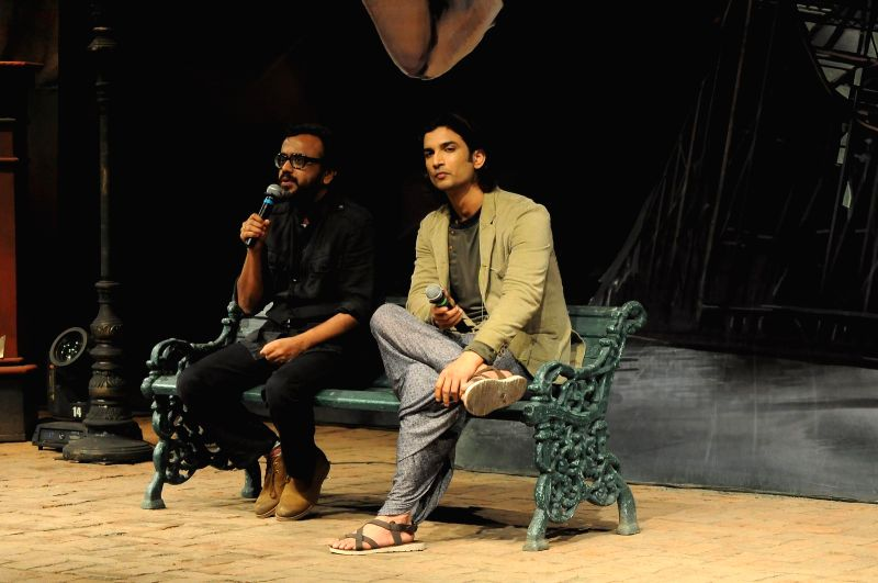 Actor Sushant Singh Rajput and filmmaker Dibakar Banerjee during the trailer launch of film Detective Byomkesh Bakshy! in Mumbai, on Jan 21, 2015. - Sushant Singh Rajput and Dibakar Banerjee