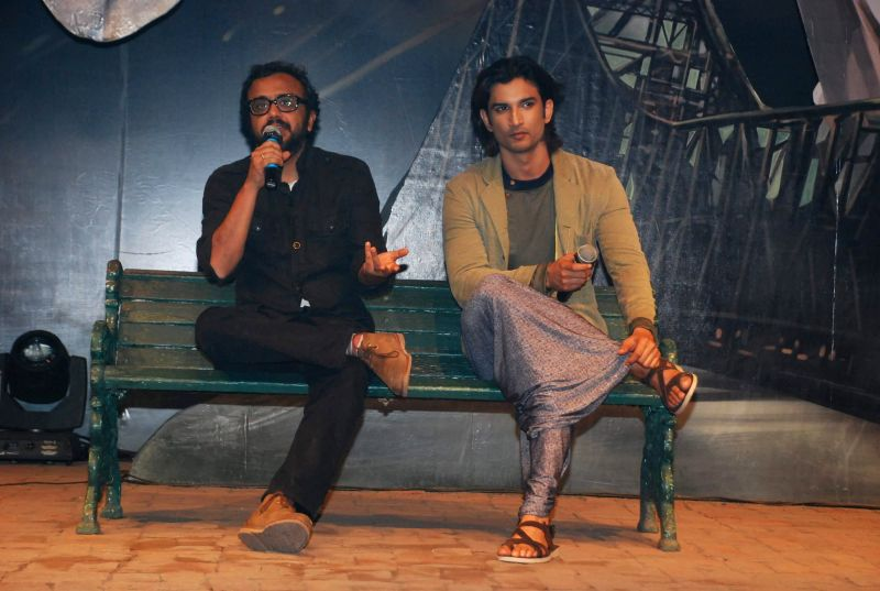 Actor Sushant Singh Rajput and filmmaker Dibakar Banerjee during the trailer launch of film Detective Byomkesh Bakshy in Mumbai on Jan 21, 2015. - Sushant Singh Rajput and Dibakar Banerjee