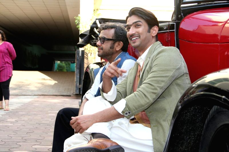 Actor Sushant Singh Rajput and filmmaker Dibakar Banerjee during the 2nd trailer launch of film Detective Byomkesh Bakshy! in Mumbai on March 9, 2015. - Sushant Singh Rajput and Dibakar Banerjee