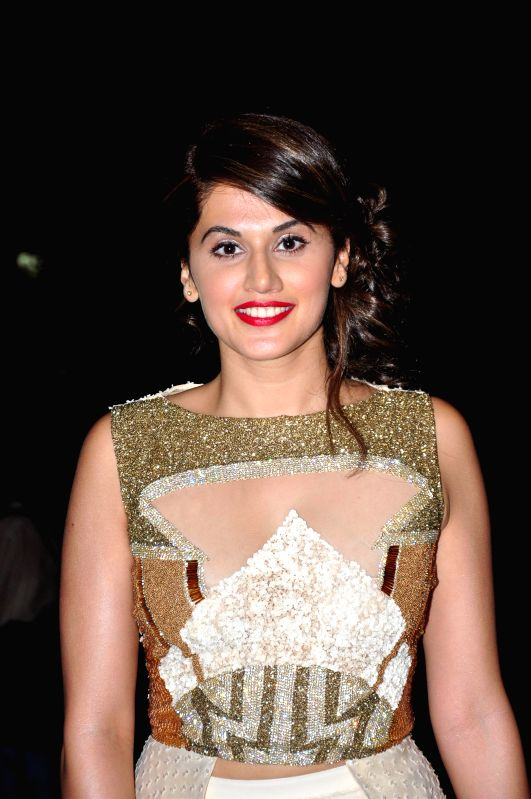 Actor Taapsee Pannu during the trailer launch of film Baby in Mumbai, on Dec 3, 2014. - Taapsee Pannu