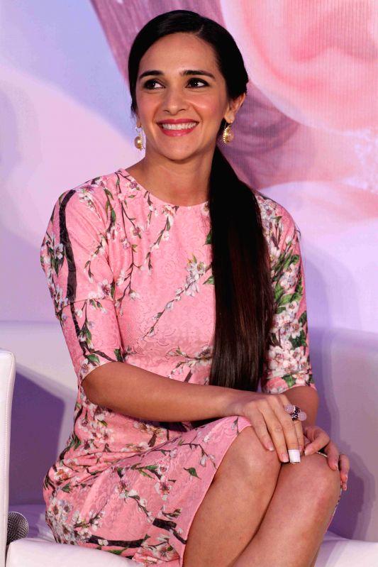 Actor Tara Sharma during the press conference to announce the global campaign of Johnson & Johnson, in Mumbai, on Feb 5, 2015. - Tara Sharma