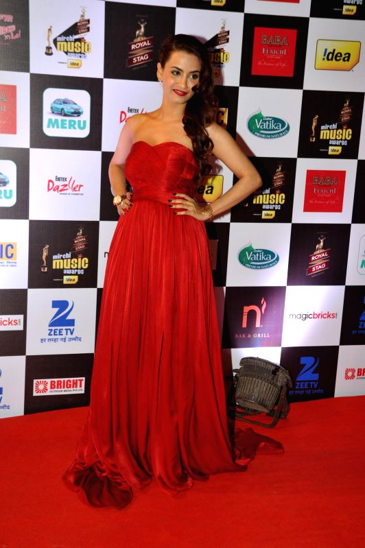 Actor Tia Bajpa during 7th Mirchi Music Awards in Mumbai on Feb 26, 2015. - Tia Bajpa