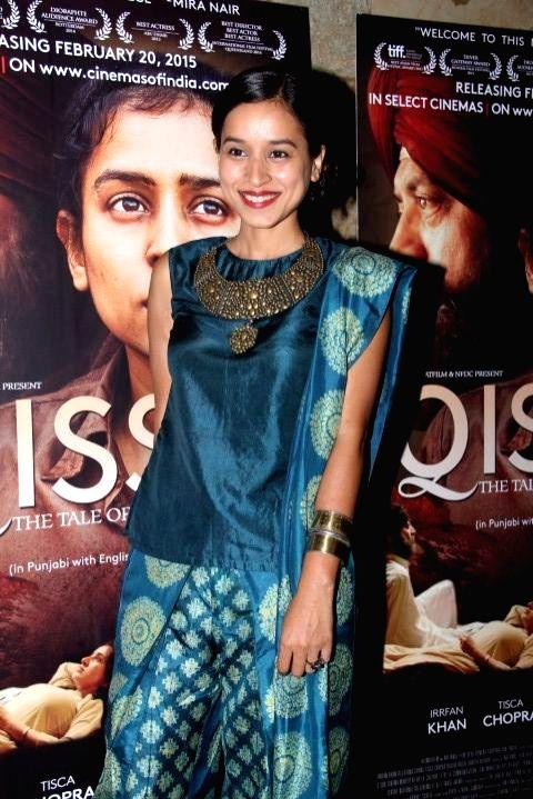 :Mumbai: Actor Tillotama Shome during the screening of film Qissa, in Mumbai on Feb 19, 2015. (Photo: IANS).
