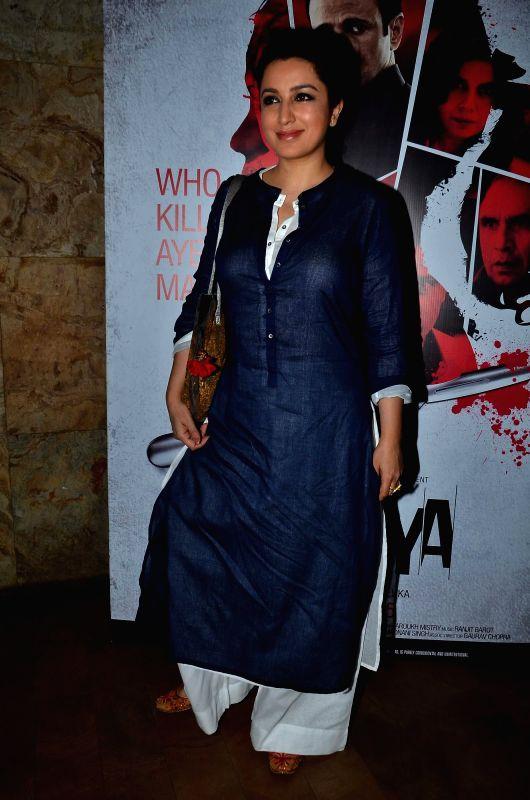 Actor Tisca Chopra during the screening of film Rahasya, in Mumbai on Jan. 30, 2015. - Tisca Chopra