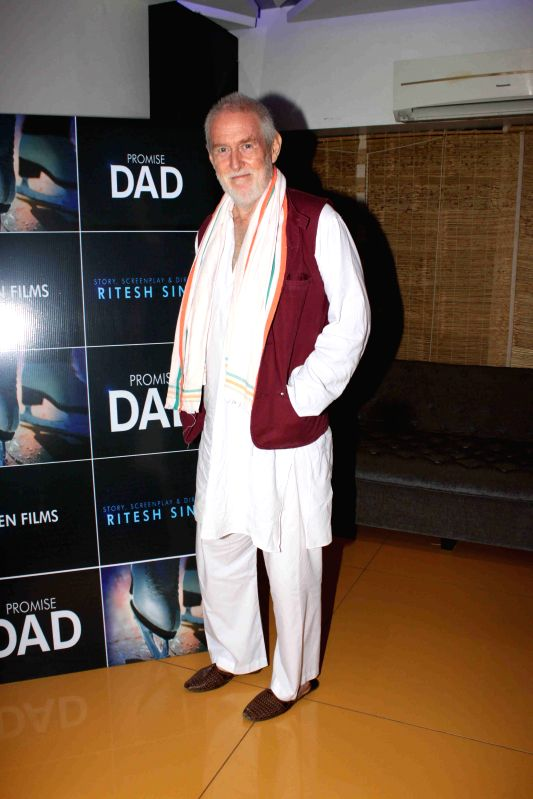 Actor Tom Alter during the trailer launch of international film Promise Dad in Mumbai, on April 23, 2015. - Tom Alter