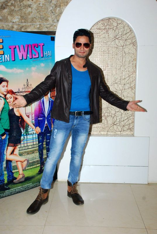 Actor Tridev Manish Uppal during the music launch of film Life Mein Twist Hai in Mumbai, on Nov 19, 2014. - Tridev Manish Uppal