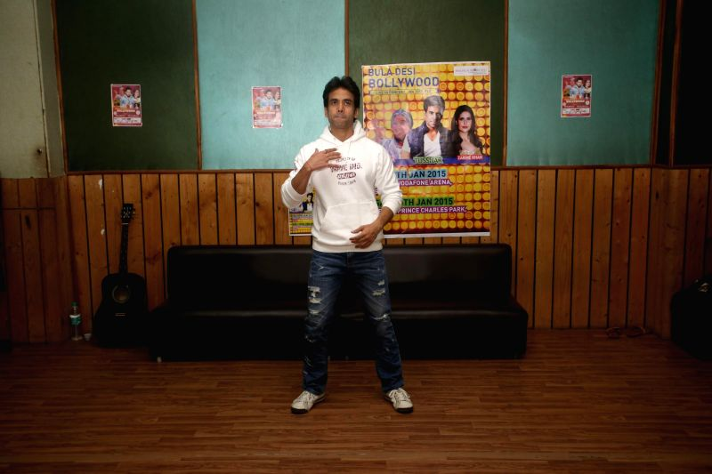 "Actor Tusshar Kapoor rehearses for ""Bula Desi Bollywood"" show, part of Bollywood Live in Concert in Fiji on Jan 9-10,  in Mumbai on Dec 24, 2014 - Tusshar Kapoor"