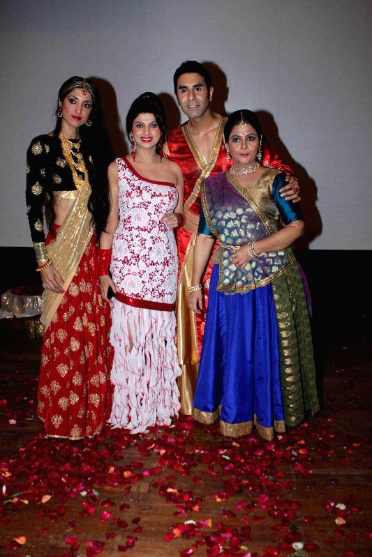 Actor Varsha Usgaonkar, choreographer Sandip Soparkar with his wife Jesse Randhawa performs based on Indo-Koreon love story of 78AD in Mumbai, on Feb 11, 2015. - Varsha Usgaonkar