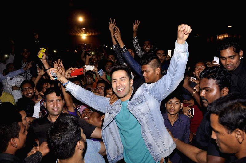 Actor Varun Dhavan during the promotion of film Badlapur in Mumbai on Feb 21, 2015. - Varun Dhavan