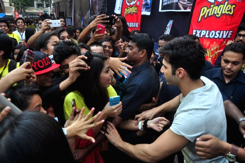Actor Varun Dhawan during the promotion of upcoming film Badlapur at a college in Mumbai, on Dec 3, 2014.
