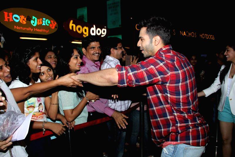 Actor Varun Dhawan during the Promotion of Film Badlapur in Mumbai on Feb 15, 2015. - Varun Dhawan