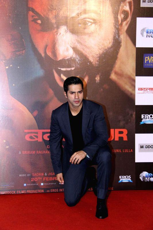 Actor Varun Dhawan during the teaser launch of film Badlapur in Mumbai on Dec 2, 2014. - Varun Dhawan
