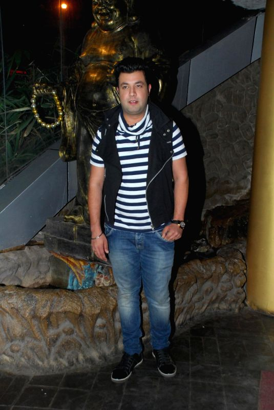 Actor Varun Sharma during the birthday celebrations of actor Richa Chadda in Mumbai, on Dec. 17, 2014. - Varun Sharma