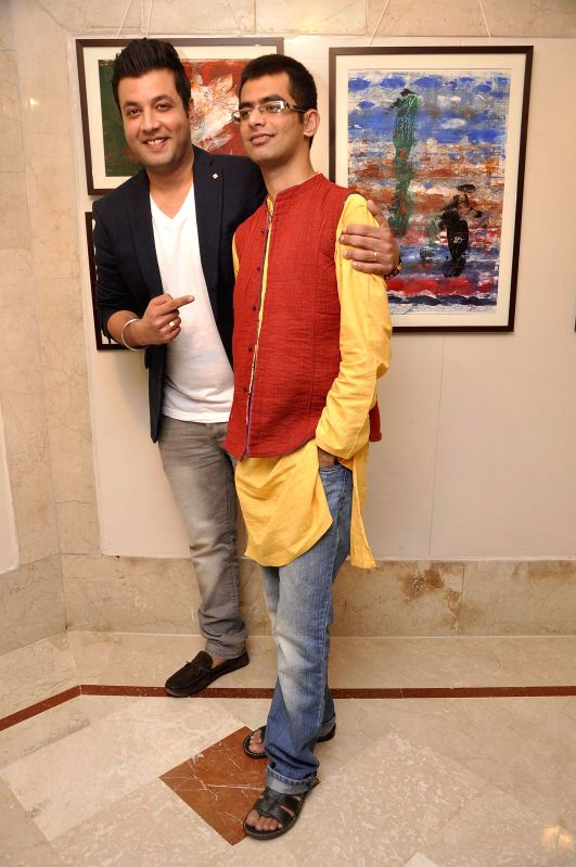Actor Varun Sharma during the inauguration of an art exhibition held at the Leela Hotel in Mumbai on 28th January 2015. - Varun Sharma