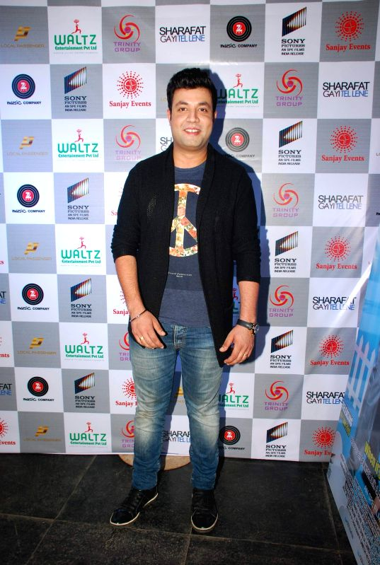 Actor Varun Sharma during the music launch of film Sharafat Gayi Tel Lene in Mumbai on Thursday, Dec 11, 2014. - Varun Sharma