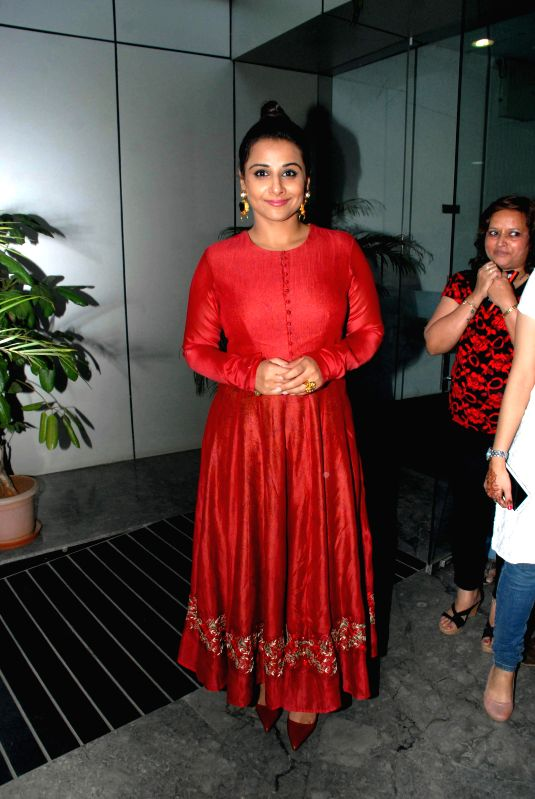 Actor Vidya Balan during the launch of ``cultural hub-5th veda and the meditation room-I pray`` at Whistling Woods International, in Mumbai on Jan. 30, 2015. - Vidya Balan
