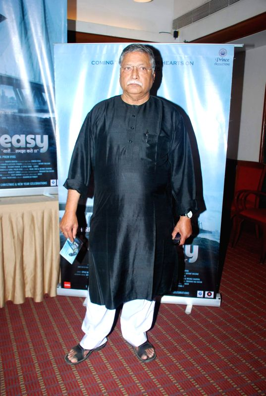 Actor Vikram Gokhale during the media interaction of film Take it Easy in Mumbai, on Dec. 24, 2014. - Vikram Gokhale