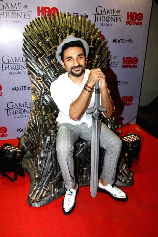 Actor Vir Das at the premiere of film `Game of Thrones` Season 5 in Mumbai on April 9, 2015. - Vir Das