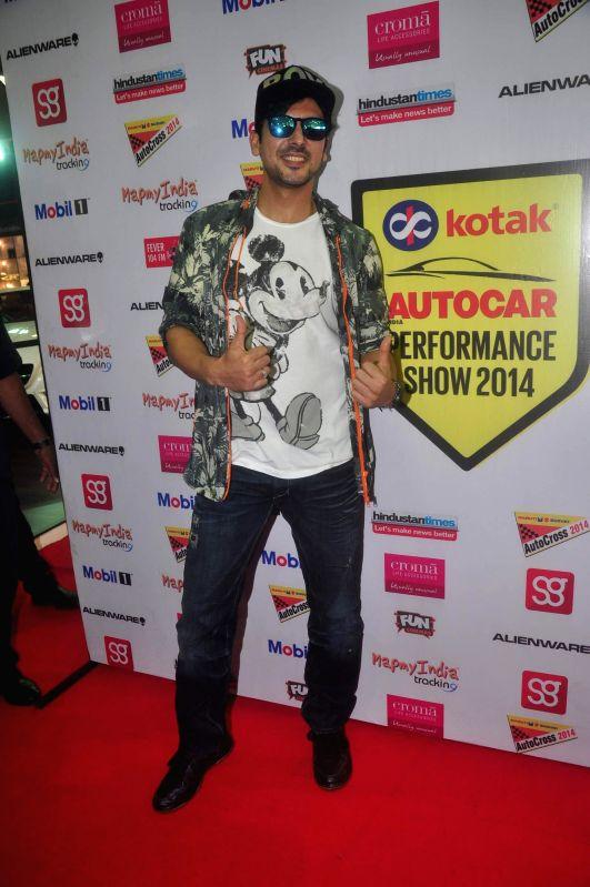 Actor Zayed Khan at Autocar show to promote his upcoming film Sharafat Gayi Tel Lene in Mumbai, on December 13, 2014. - Zayed Khan