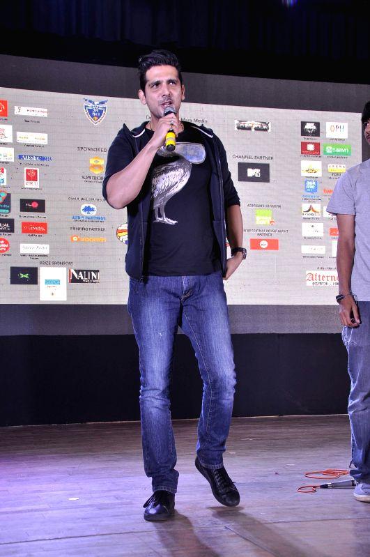 Actor Zayed Khan at Jai Hind College Detour Festival, to promote his upcoming film Sharafat Gayi Tel Lene in Mumbai, on Dec 5, 2014.