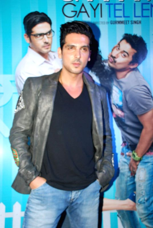 Actor Zayed Khan during the music launch of film Sharafat Gayi Tel Lene in Mumbai on Thursday, Dec 11, 2014. - Zayed Khan