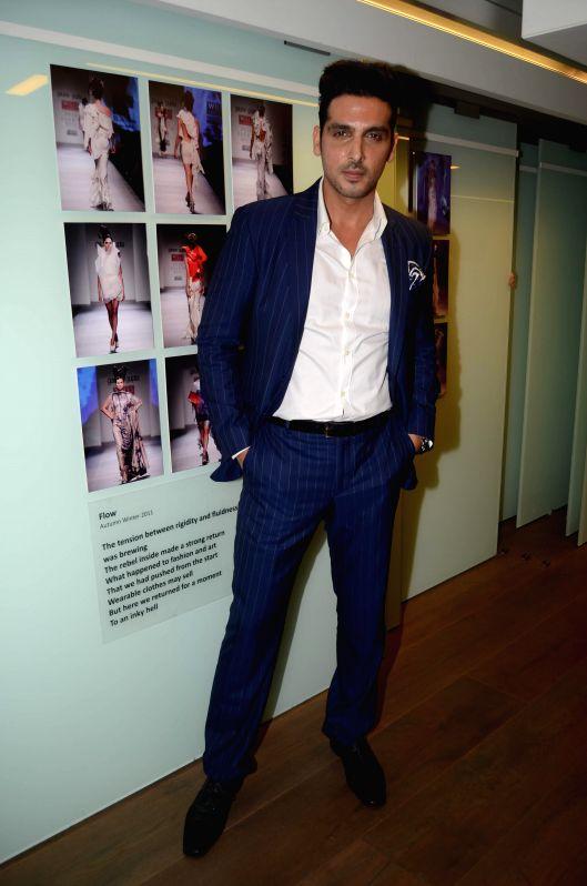 Actor Zayed Khan during the opening of fashion designer Gaurav Gupta's store in Mumbai on Nov 27, 2014. - Zayed Khan