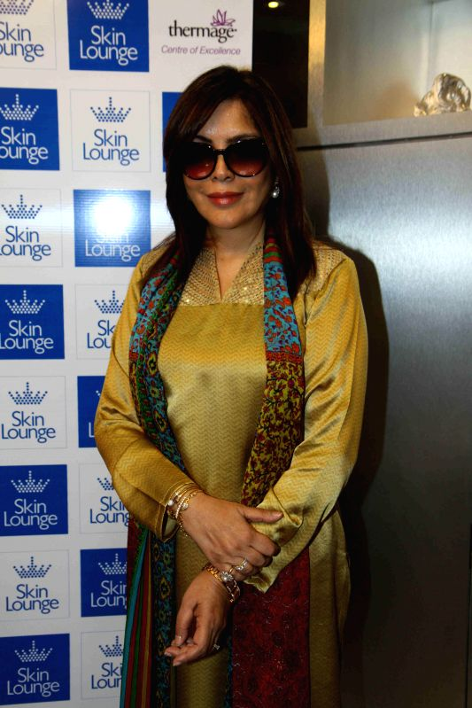 Actor Zeenat Aman during the launch of Dr. Simple Aher`s new clinic, Skin Lounge in Mumbai on March 15, 2015.