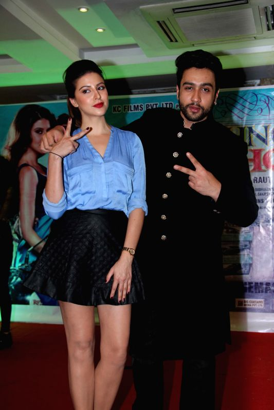 Actors Adhyayan Suman and Karishma Kotak during the first look on film Luckhnowi Ishq in Mumbai on Tuesday, Jan 27, 2015. - Adhyayan Suman and Karishma Kotak