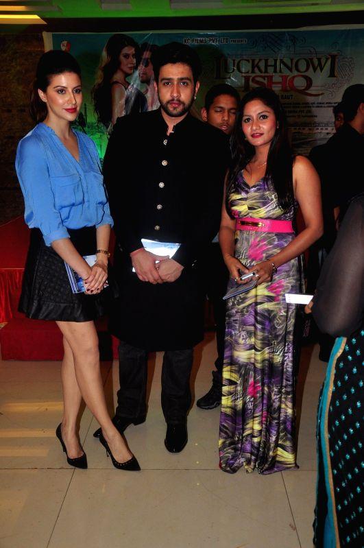 Actors Adhyayan Suman and Karishma Kotak during the first look on film Lucknowi Ishq in Mumbai on 28th January 2015 (Photo: IANS) I - Adhyayan Suman and Karishma Kotak