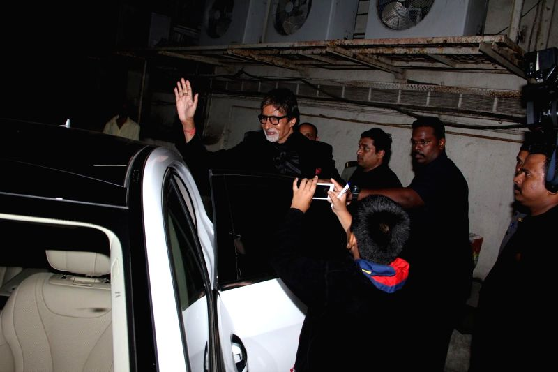 Actors Amitabh Bachchan during Mumbai International Motor Show 2015 and promotion of film Shamitabh in Mumbai on 5th February 2015. - Amitabh Bachchan