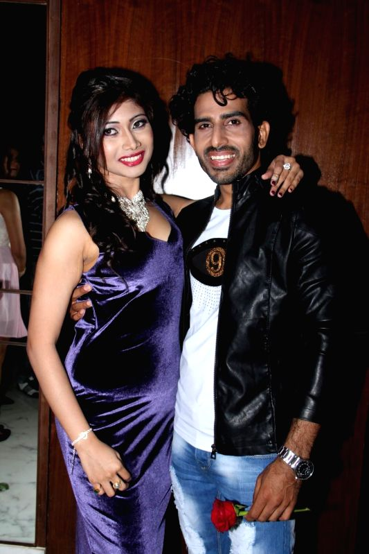 Actors Amrita Das Gupta and Manoj Juneja during the music launch of film Three Atrangi Jai-Veeru-Gabbar in Mumbai on March 20, 2015. - Amrita Das Gupta and Manoj Juneja