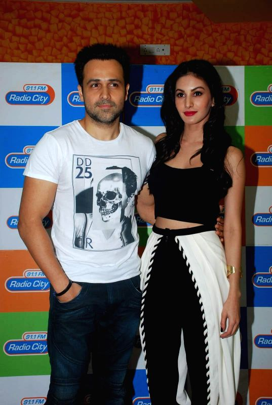 Actors Amyra Dastur and Emran Hashmi during the music launch of film Mr. X at Radio City in Mumbai, on March 13, 2015. - Amyra Dastur and Emran Hashmi