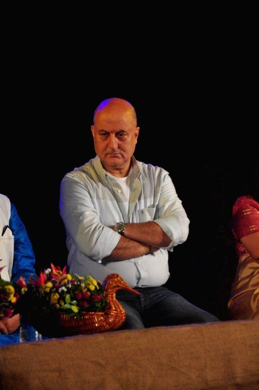 Actors Anupam Kher during the inauguration of National Tribal Festival Adi Rang Mahotsav in Mumbai, on Dec. 12, 2014.