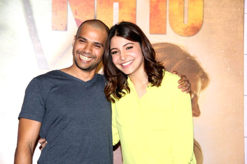 Actors Anushka Sharma and Neil Bhoopalam during the trailer launch of film NH10 in Mumbai, on Feb 5, 2015. - Anushka Sharma and Neil Bhoopalam